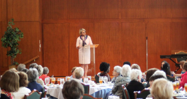 Dr. Margaret Spellings speaks at the University Woman's Club Spring Luncheon | Event Photography at the Carolina Club in Chapel Hill, NC