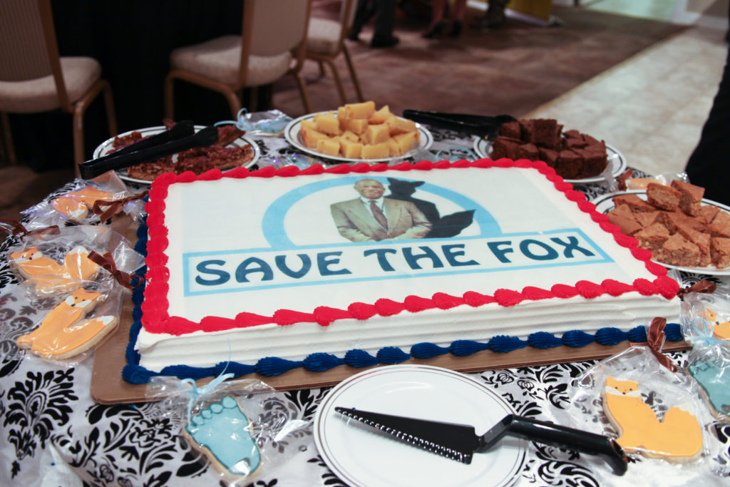 The cake for the Save the Fox Foundation says it all!