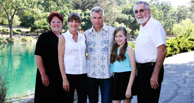 One family and three generations | Menlo Park, CA Family Photography