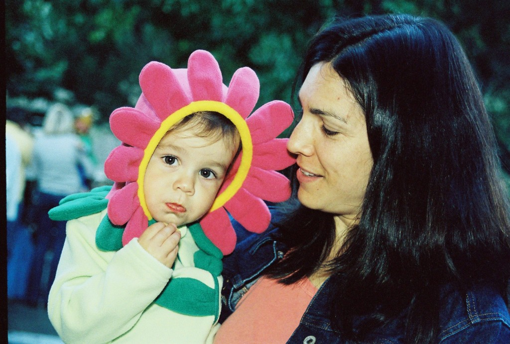 A flower costume with the pinkest of petals and a day out in the San Francisco Bay Area