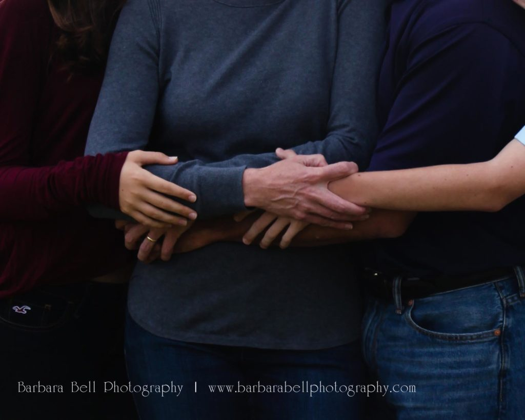 Hold the hands of the ones you love in your family portrait session...and always.