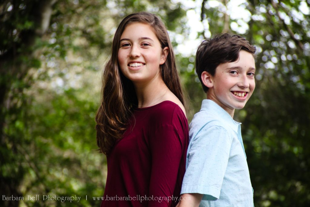 Siblings bring great laughter to portrait sessions.