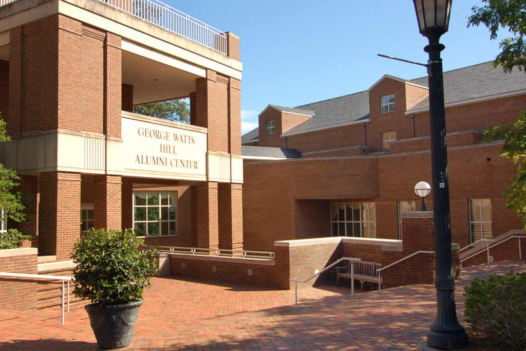 The Carolina Club is located within the Alumni Center on UNC's campus.