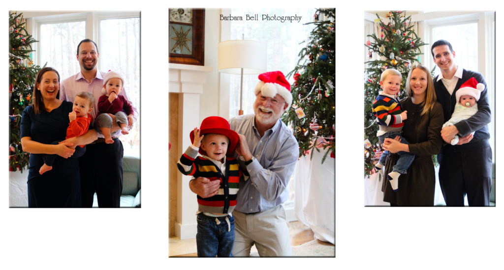 A Christmas Eve portrait for these families was a great way to wrap up our year | Barbara Bell Photography