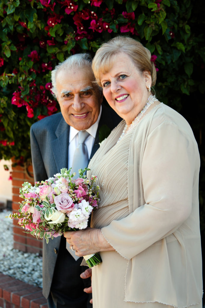 An older bridal couple and their love story