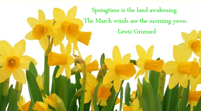 Lewis Grizzard knows of what he speaks when it comes to springtime