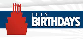 We're celebrating birthdays in July!