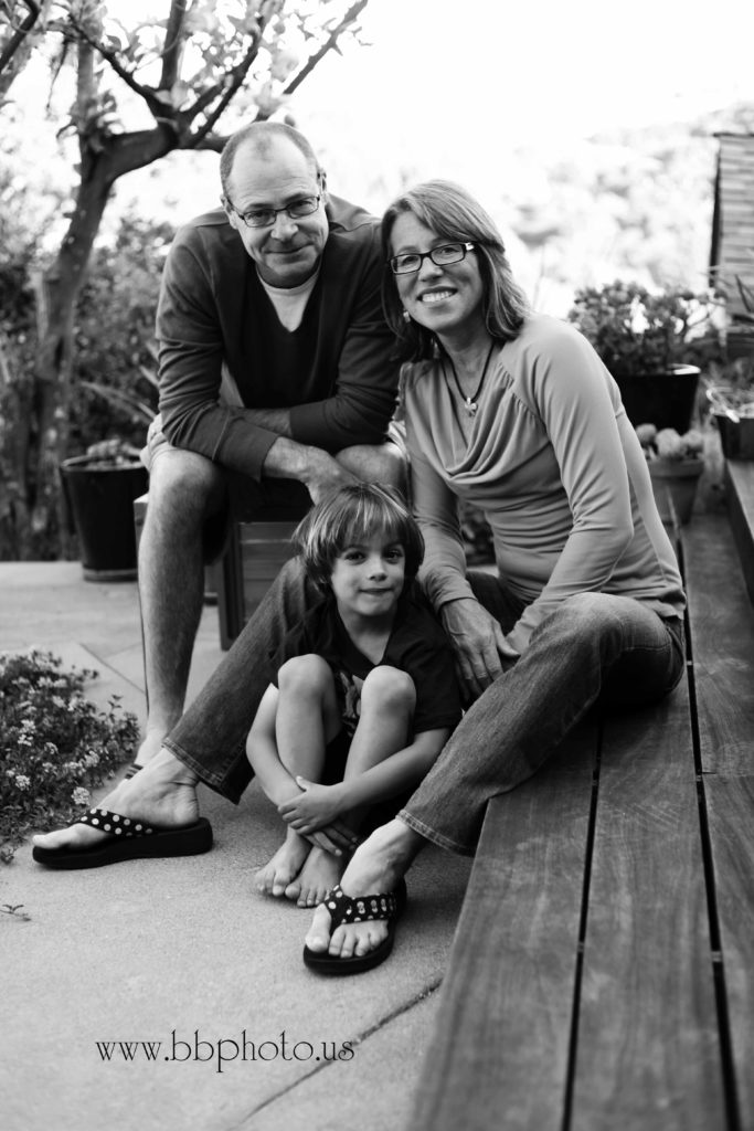 Black and White Family Family Portraits