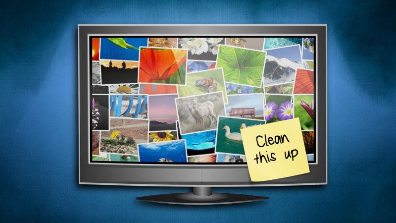 How do I organize my digital photos?