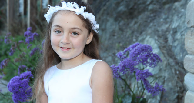 What does this girl need in her portrait session? | First Communion Portraits
