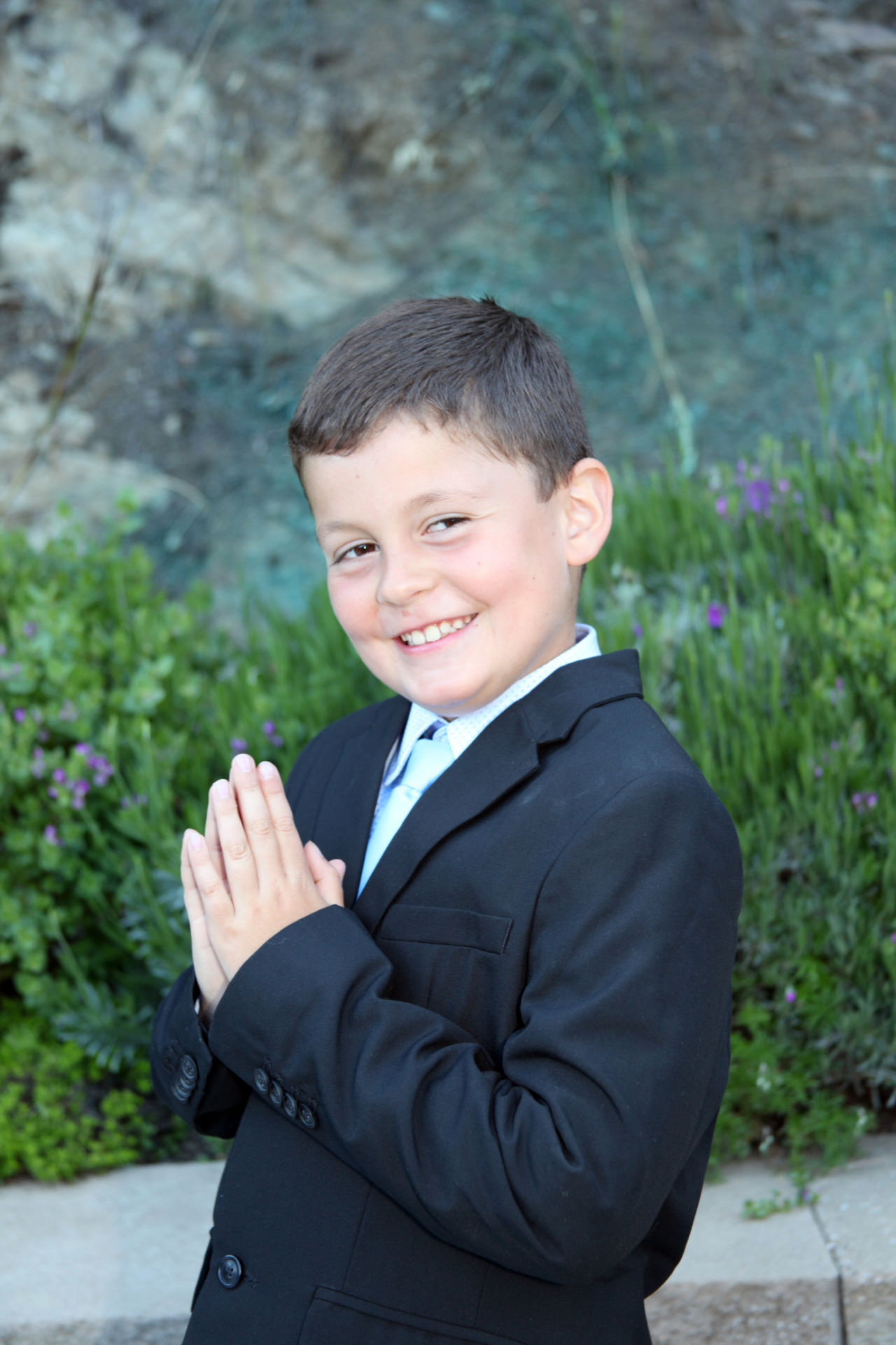 This young gentleman had his First Communion Portrait taken to be treasured for years to come.