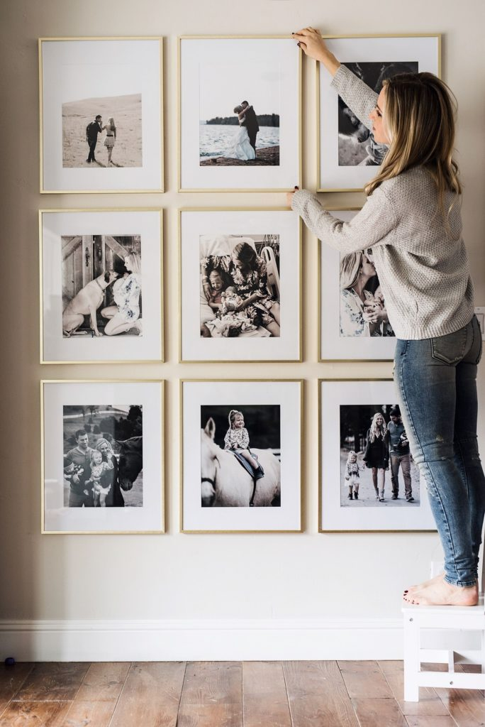Barbara Bell Photography helps clients to print, frame, and hang their favorite photographs in their home.