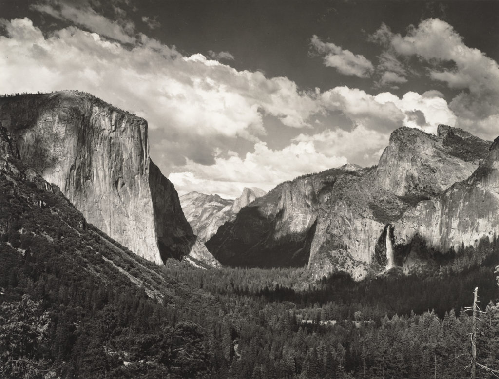 Ansel Adams photographs can be used to provoke discussion with little ones at home.