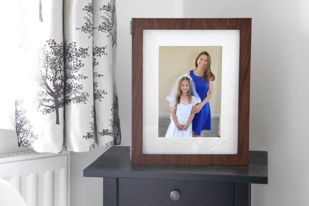 Mother and daughter portraits for the First Eucharist ceremony with Barbara Bell Photography near Chapel Hill, NC