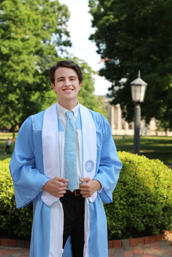 Cap and gown portraits with Barbara Bell Photography at the University of North Carolina at Chapel Hill mean you will remember your graduate for years to come.