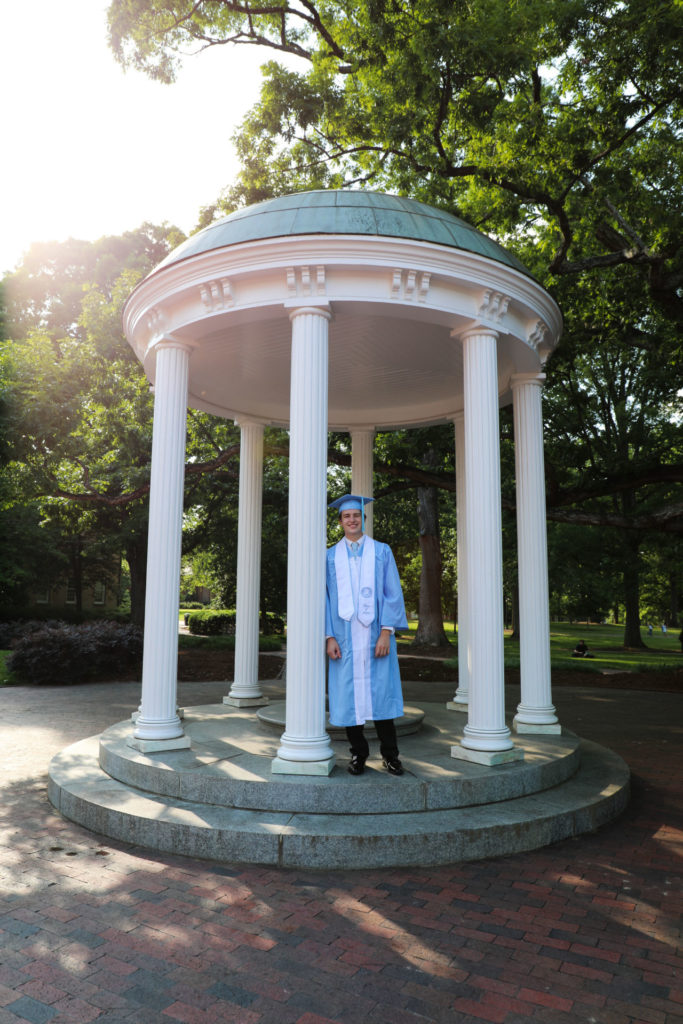 A photograph at the Old Well is a must when visiting the UNC campus in Chapel Hill.