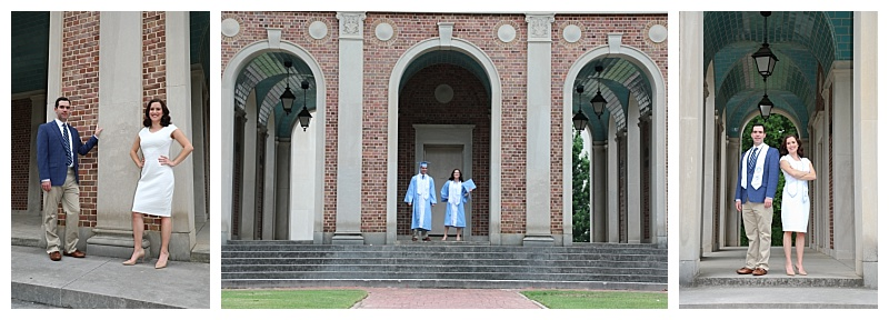 UNC seniors pose for graduation photos with Barbara Bell Photography near Chapel Hill, NC.